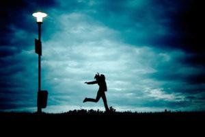 Streetlamp in autumn.