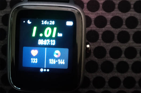 Fitness watch. Day 1 of the 14 day running challenge, to welcome summer